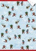 Geschenkpapier-Bogen - Weihnachtsmänner