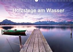 Holzstege am Wasser (Wandkalender 2020 DIN A3 quer)