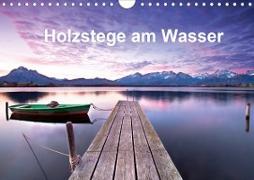 Holzstege am Wasser (Wandkalender 2020 DIN A4 quer)