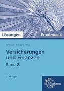 Versicherungen und Finanzen (Proximus 4) Band 2. Lösungen zu 22905
