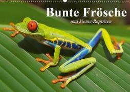 Bunte Frösche und kleine Reptilien (Wandkalender 2020 DIN A2 quer)