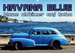 HAVANA BLUE - Blaue Oldtimer auf Kuba (Wandkalender 2020 DIN A2 quer)