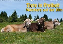 Tiere in Freiheit - Nutztiere auf der Alm (Wandkalender 2020 DIN A2 quer)