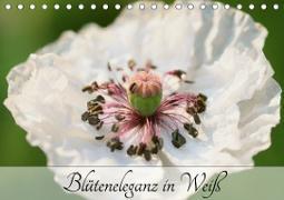 Blüteneleganz in Weiß (Tischkalender 2020 DIN A5 quer)