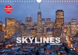 Skylines weltweit (Wandkalender 2020 DIN A4 quer)