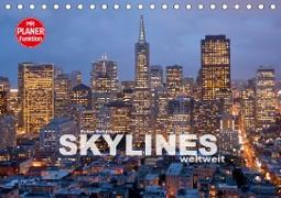 Skylines weltweit (Tischkalender 2020 DIN A5 quer)
