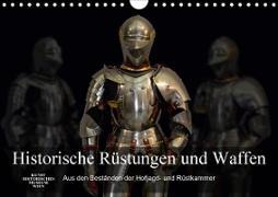 Historische Rüstungen und Waffen (Wandkalender 2020 DIN A4 quer)