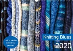 Knitting Blues (Wall Calendar 2020 DIN A3 Landscape)