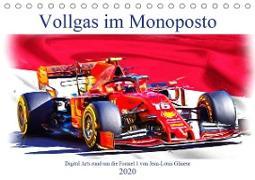 Vollgas im Monoposto - Digital Arts rund um die Formel 1 von Jean-Louis Glineur (Tischkalender 2020 DIN A5 quer)