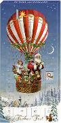 Adventskalender-Schokolade - Weihnachtsballon - Frohes Fest