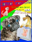 Spannende Tiergeschichten für Kinder - präsentiert von Lilly Mops - inkl. ABC Ausmalseiten