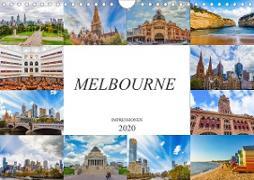 Melbourne Impressionen (Wandkalender 2020 DIN A4 quer)
