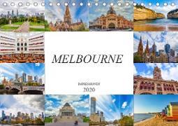 Melbourne Impressionen (Tischkalender 2020 DIN A5 quer)