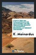 Studien Über Den Zusammenhang Der Ägyptischen Und Der Griechischen Religion Mit Besonderer Beziehung Auf Herodot Und Bunsen [mic