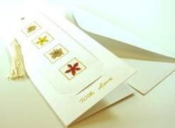 Geschenkkarte mit Lesezeichen