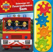 Feuerwehrmann Sam - Unterwegs mit Feuerwehrmann Sam - Interaktives Pappbilderbuch mit 4 Zahnrädern und 5 Geräuschen für Kinder ab 3 Jahren