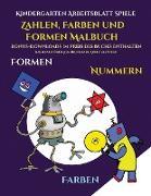 Kindergarten Arbeitsblatt Spiele (Zahlen, Farben und Formen)