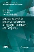 Antitrust Analysis of Online Sales Platforms & Copyright Limitations and Exceptions