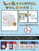 Práctica de habilidades con laberintos en Preescolar (Laberintos - Volumen 2)