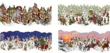 Nostalgische Leporello-Karten - Mini-Adventskalender