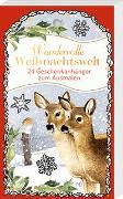 Geschenkanhänger-Blöckchen zum Ausmalen - Wundervolle Weihnachtswelt - Marjolein Bastin