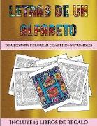 Dibujos para colorear complejos imprimibles (Letras de un alfabeto inventado)