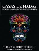 Libros de colorear imprimibles para adultos (Casas de hadas)