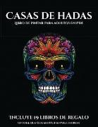 Libro de pintar para adultos en PDF (Casas de hadas)