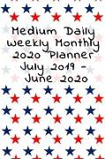 Medium Daily Weekly Monthly 2020 Planner July 2019 - June 2020