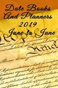 Date Books And Planners 2019 June to June