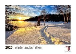 Winterlandschaften 2020 - Timokrates Tischkalender, Bilderkalender, Fotokalender - DIN A5 (21 x 15 cm)