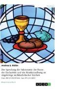 Die Spendung der Sakramente der Busse, der Eucharistie und der Krankensalbung an Angehörige nichtkatholischer Kirchen