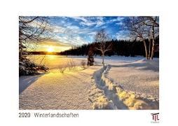 Winterlandschaften 2020 - White Edition - Timokrates Wandkalender, Bilderkalender, Fotokalender - DIN A4 (ca. 30 x 21 cm)