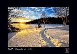 Winterlandschaften 2020 - Black Edition - Timokrates Wandkalender, Bilderkalender, Fotokalender - DIN A4 (ca. 30 x 21 cm)
