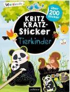 Kritzkratz-Sticker Tierkinder