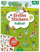 Erstes Stickern Fußball