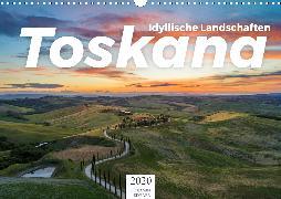Toskana - idyllische Landschaft (Wandkalender 2020 DIN A3 quer)