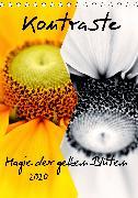 Kontraste Magie der gelben Blüten (Tischkalender 2020 DIN A5 hoch)