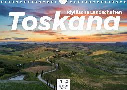 Toskana - idyllische Landschaft (Wandkalender 2020 DIN A4 quer)