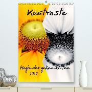 Kontraste Magie der gelben Blüten (Wandkalender 2020 DIN A2 hoch)