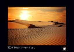 Deserts - eternal sand 2020 - Black Edition - Timocrates wall calendar with US holidays / picture calendar / photo calendar - DIN A3 (42 x 30 cm)