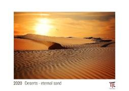 Deserts - eternal sand 2020 - White Edition - Timocrates wall calendar with US holidays / picture calendar / photo calendar - DIN A3 (42 x 30 cm)