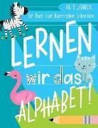 Lernen wir das Alphabet: Ein Buch zum Buchstaben Schreiben: Ab 3 Jahren: Ein Arbeitsbuch zum Handschrift Üben mit einfachen Wörtern mit Tieren
