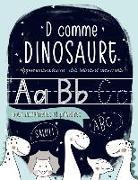 D comme dinosaure: Apprenons à écrire: des lettres et des mots: pour maternelles et primaires: Un cahier pour s'entraîner à écrire pour l