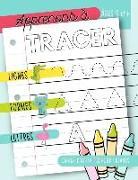 Apprenons à tracer: Lignes Formes Lettres: Cahier d'activités pour enfants: Âges 3 et +: Un cahier de graphisme pour jeunes enfants débuta