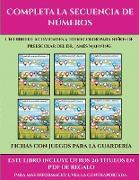 Fichas con juegos para la guardería (Completa la secuencia de números)