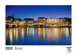 Basel 2020 - Timokrates desk calendar with UK holidays / picture calendar / photo calendar - DIN A5 (21 x 15 cm)