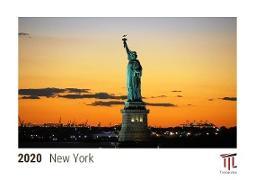 New York 2020 - Timokrates desk calendar with UK holidays / picture calendar / photo calendar - DIN A5 (21 x 15 cm)