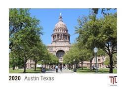 Austin Texas 2020 - Timokrates desk calendar with UK holidays / picture calendar / photo calendar - DIN A5 (21 x 15 cm)