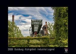 Duisburg - Ruhrgebiet - Industrial Legend 2020 - Black Edition - Timocrates wall calendar with UK holidays / picture calendar / photo calendar - DIN A4 (30 x 21 cm)